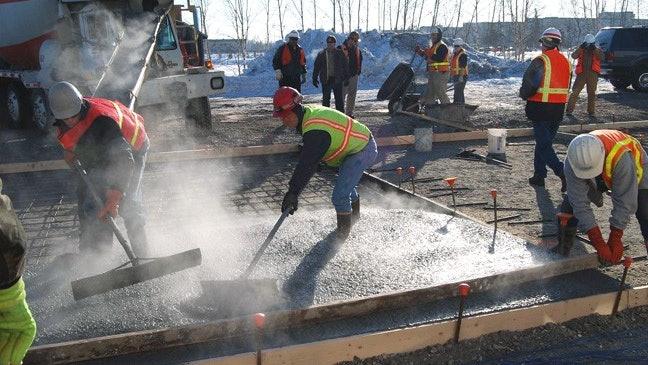commercial concrete - bedford concrete crew 1